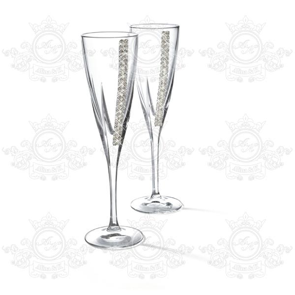 Chinelli Swarovski бокалы для шампанского