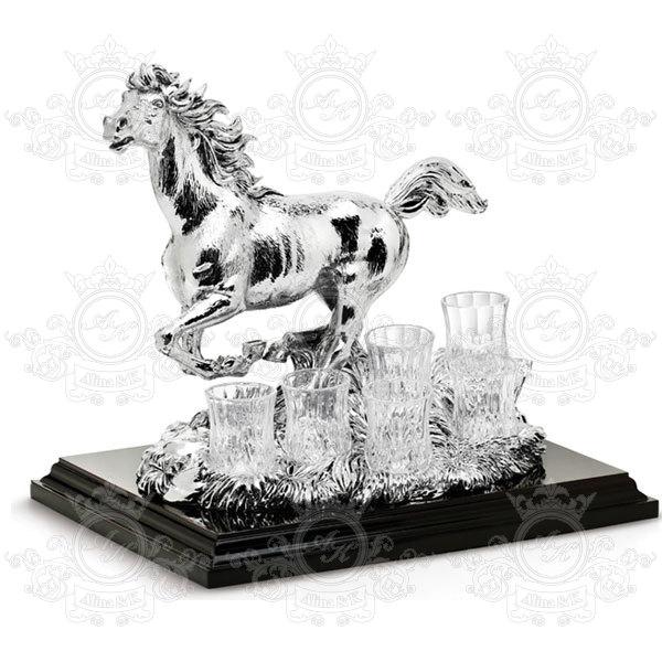 CHINELLI  Набор Horse Statue 2014 + 6 рюмок для водки
