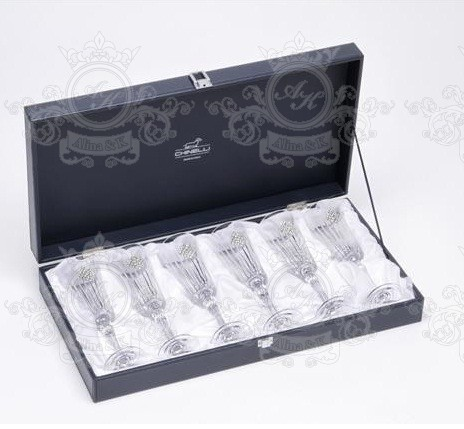 Chinelli Swarovski Regina ROMBO бокалы для шампанского набор из 6 шт.