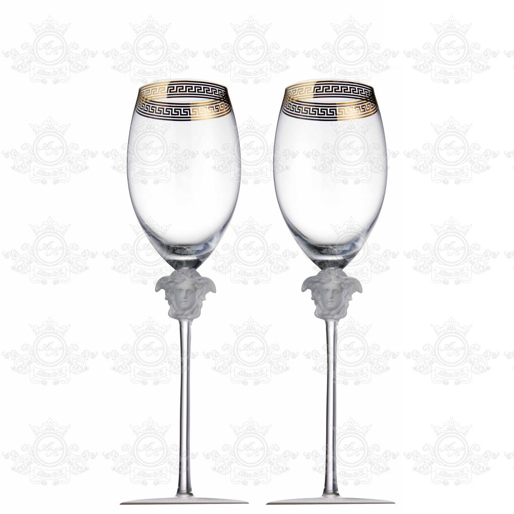 2 Бокала для вина Versace Medusa.