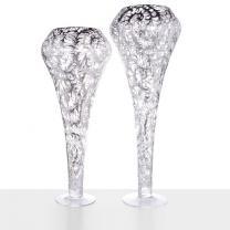 DIAMOND SILVER VASE CM. 100
