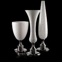 ваза 60см Swarovski mat white/platinum colour